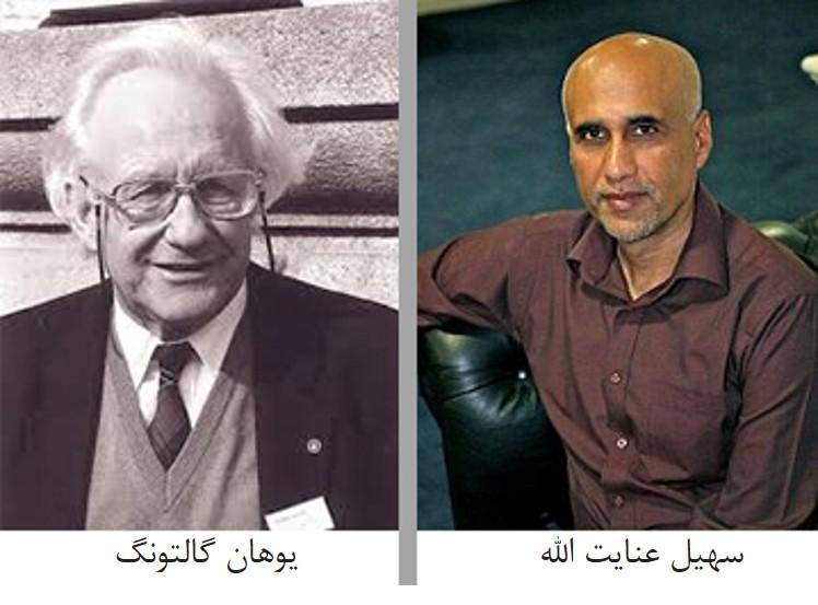 تصویر وهان گالتونگ و سهیل عنایت الله